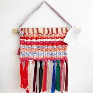 Boho Textile Art Wall Hanging - Off Loom Weaving